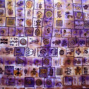 Manta símbolos precolombina