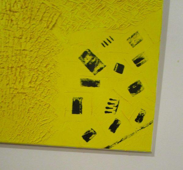 obra contemporánea óleo dorado